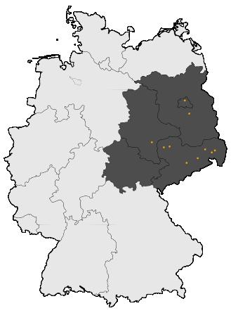 Karte von Mitteldeutschland